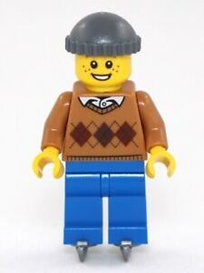 Lego holiday boy on ice skates hol118 minifigure figure new from 10263