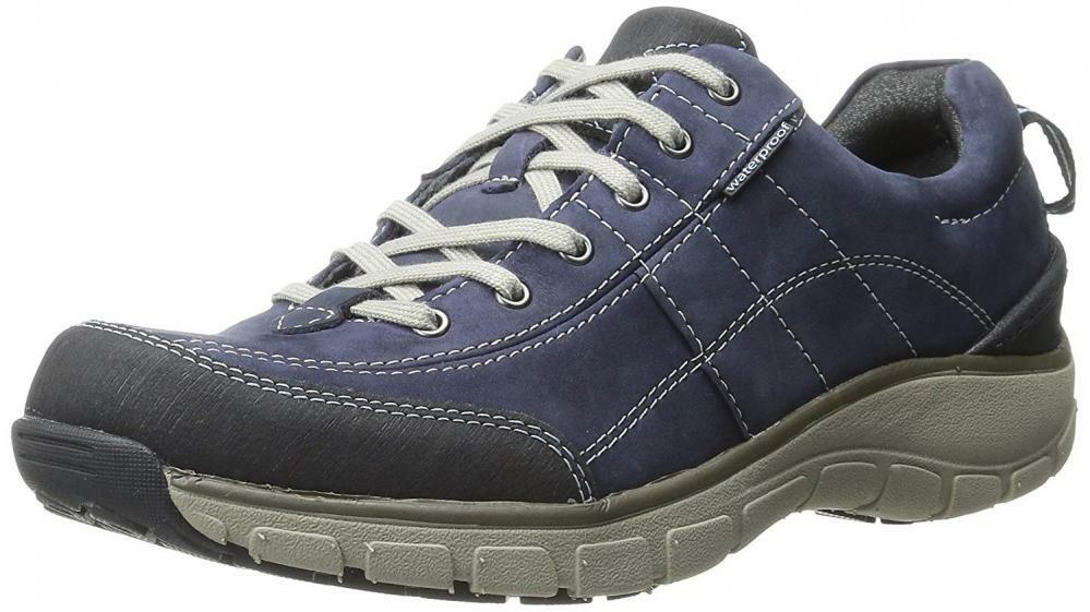 Clarks Wouomo Wave Trek scarpe da ginnastica Leather Comfort Casual Waterproof scarpe Walking