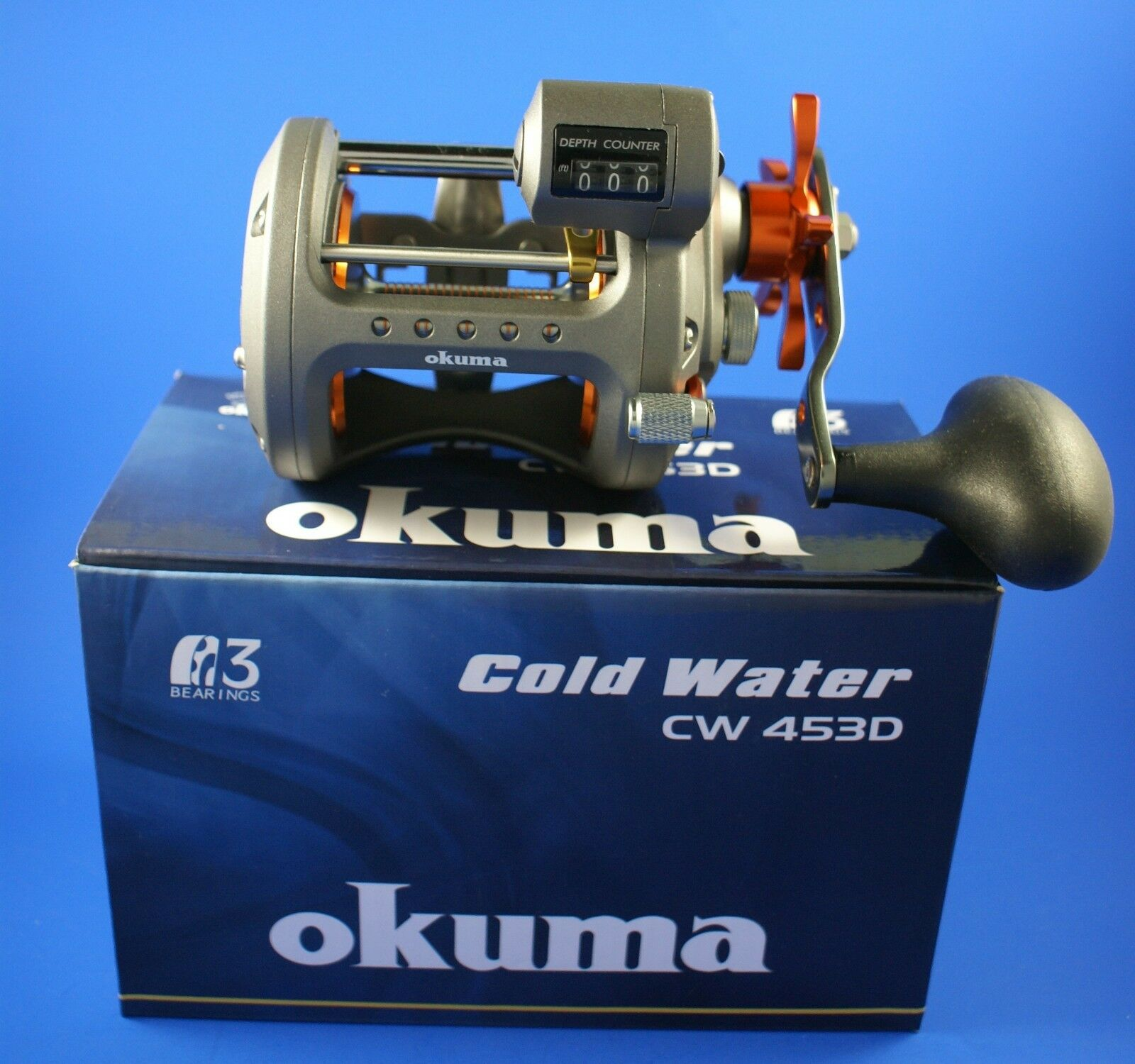Okuma Cold Water CW-453D Line Counter  Fishing Reel  factory outlet