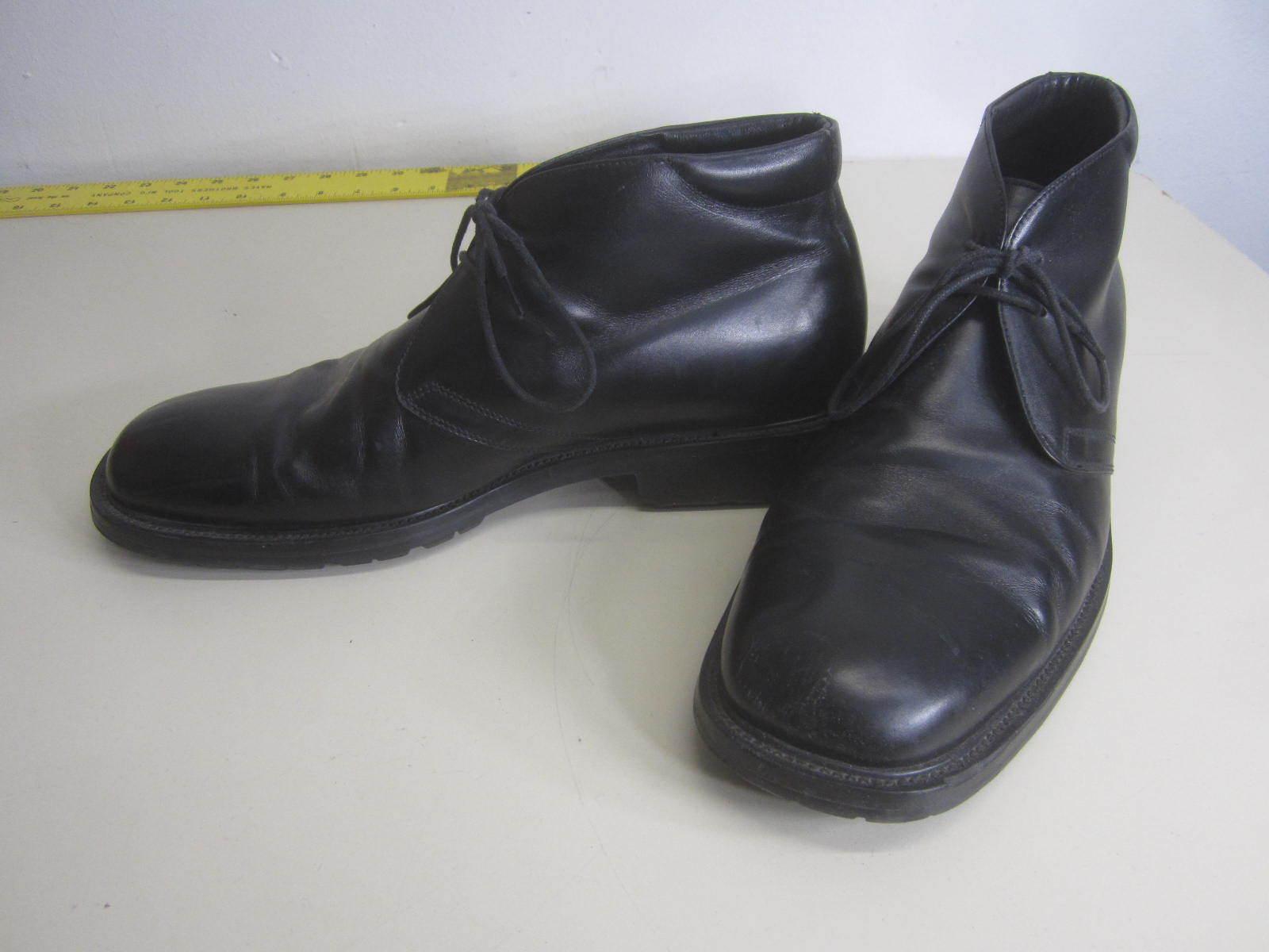 Vtg Gordon schwarz Rush Ankle Stiefel schwarz Gordon Leder rubber sole lace top sz 10.5 fbc6d1