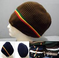 Jumbo Xl Striped Tam Rasta Rastafari Jamaica Dread Locks Hat Beret Africa Knited