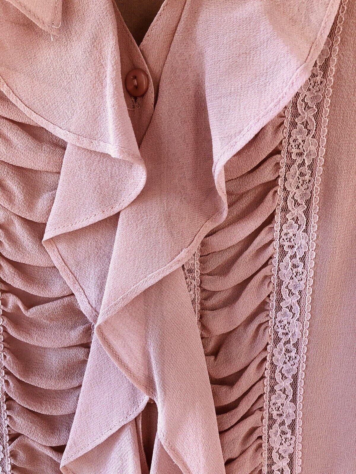Vintage Stunning Jones Wear Silk Sheer Dusty Lila… - image 4