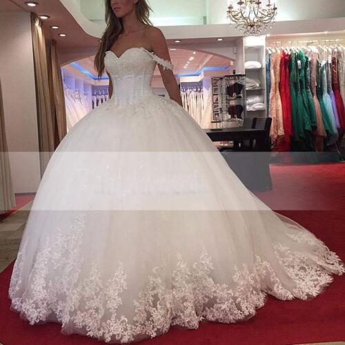 Princess Ball Gown Crystal Wedding Dresses Bridal Gown Vestido de Noiva Custom