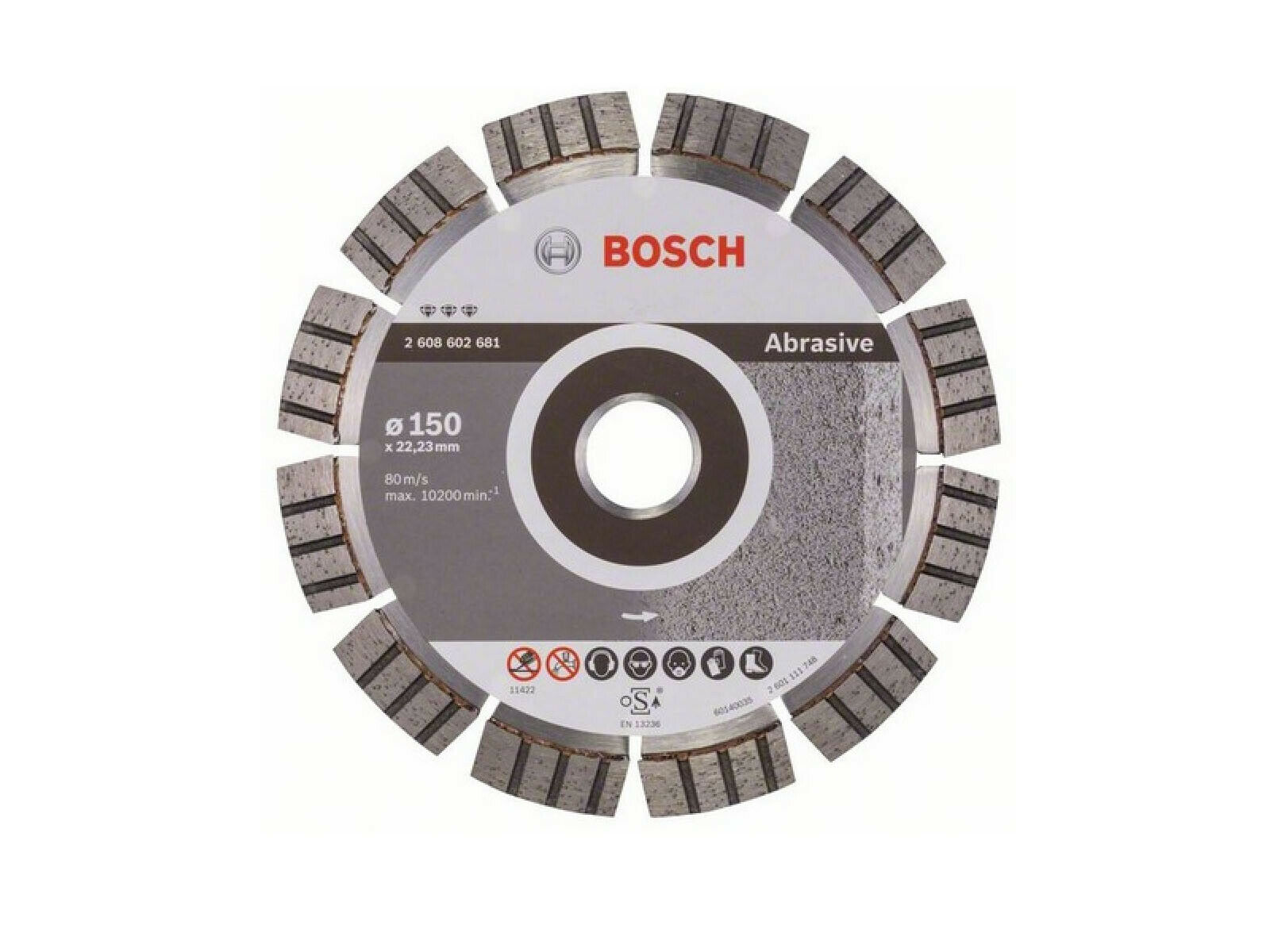 Bosch Diamanttrennscheibe Beste for Abrasive 2608602681 150 mm Trennscheibe