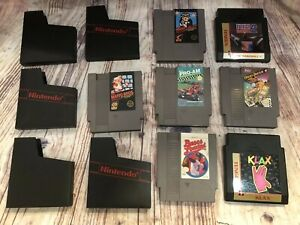 Nintendo-NES-Game-Cartridges-TESTED-Lot-Of-7-Super-Mario-Bros-RBI-2-RC-Pro-am