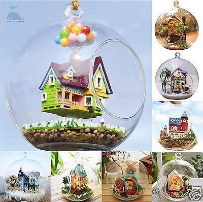 DIY Handcraft Miniature Project Kit Glass Ball Series LED Lights Dolls House