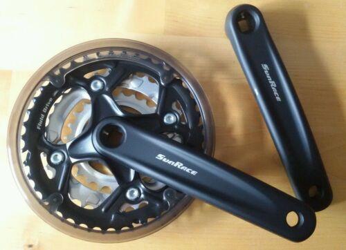 Pedalier vélo vtt 22//32//42 sunrace sturmey neuf sans protection