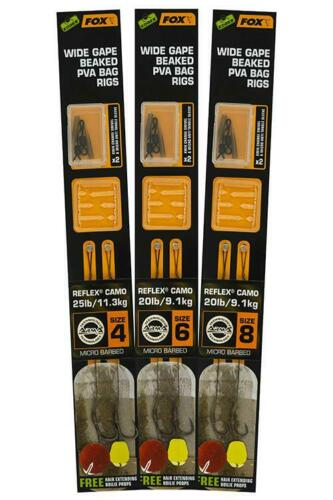 Fox Edges Arma Point Wide Gape Bag Rig Hooks ALL SIZES