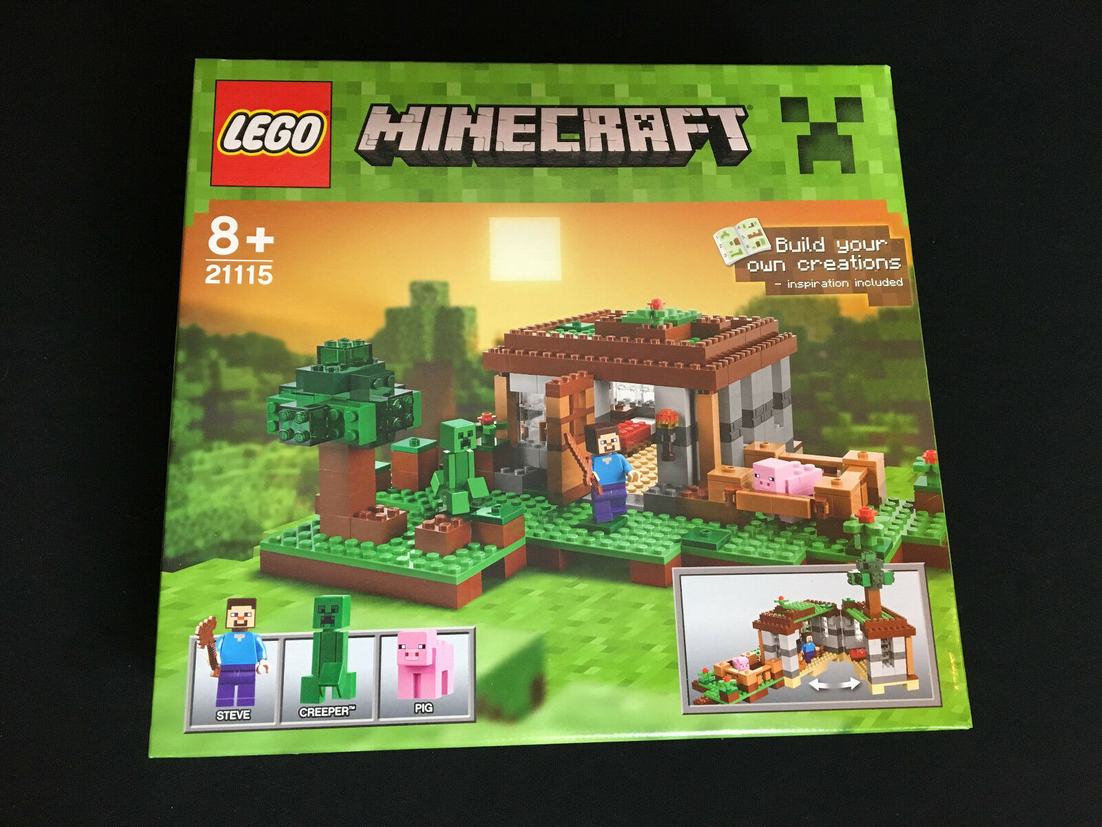 LEGO 21115 Minecraft STEVE casa The First Night Nuovo Nuovo OVP