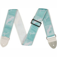 Fender 2 Inch Custom Color Fender Monogrammed Strap Daphne Blue +picks