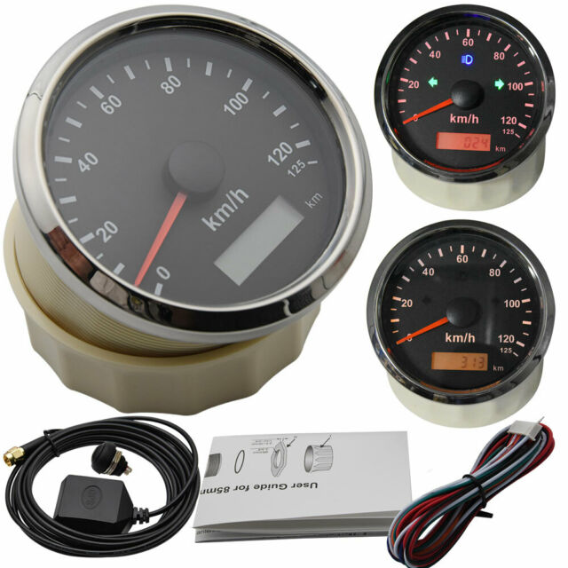 85mm GPS Speedometer & Odometer 125km/h For Motorcycles Car Marine Boats Truck