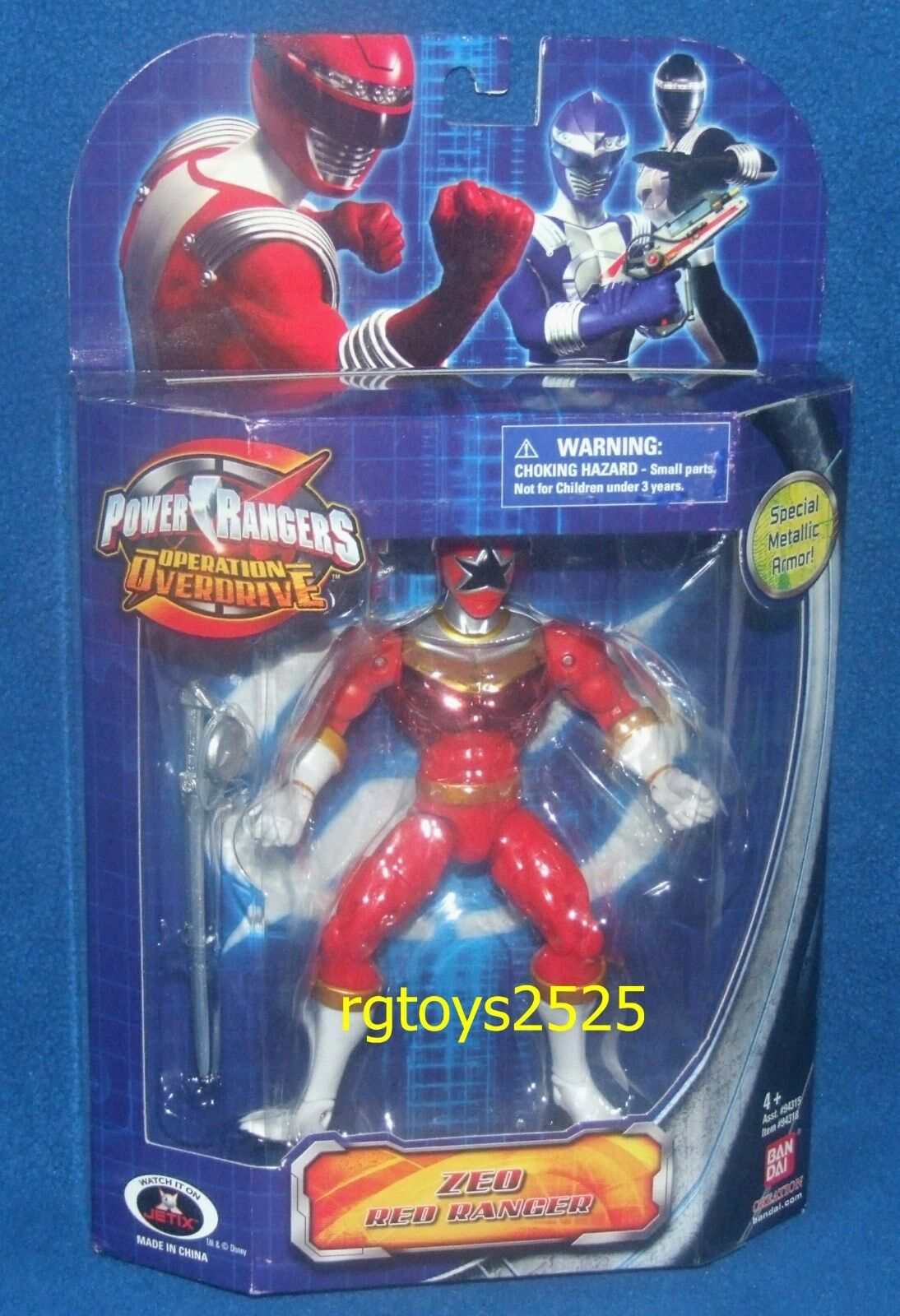 Power Rangers Zeo Red Red Red Ranger Metallic Operation Overdrive New Factory Sealed 283b1f