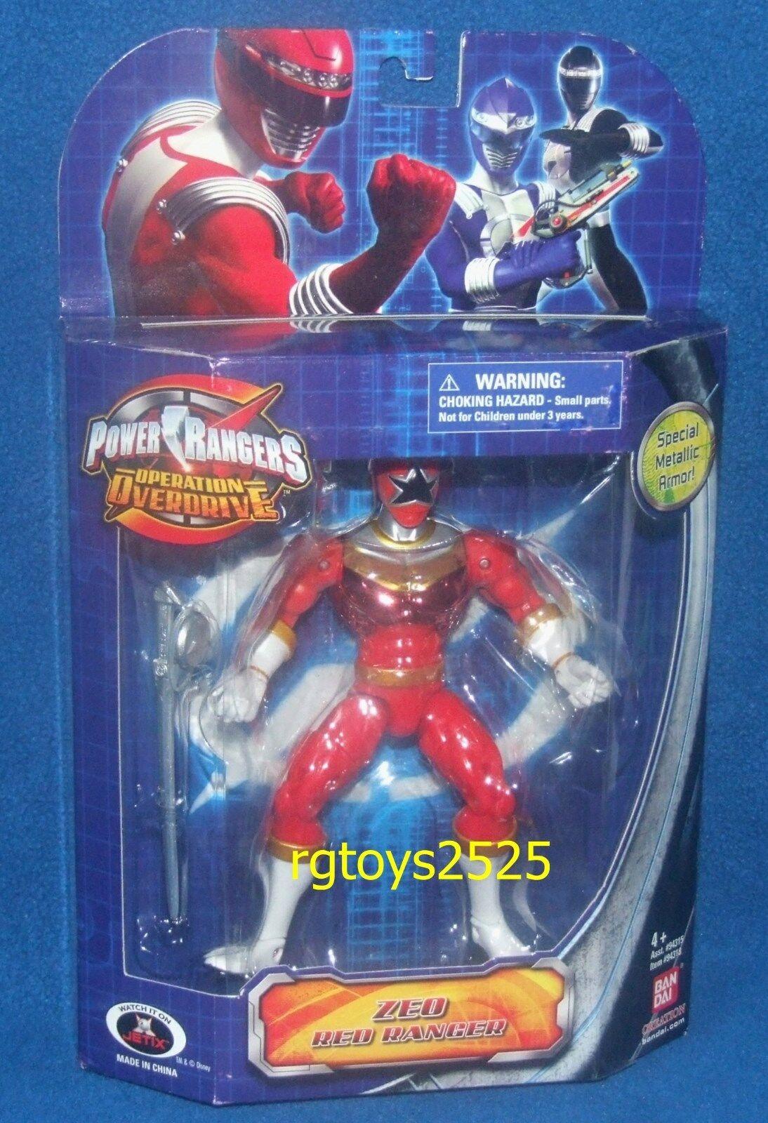 Power Rangers Zeo Ranger rosso Metálico Operación Overdrive Nuevo Sellado De Fábrica