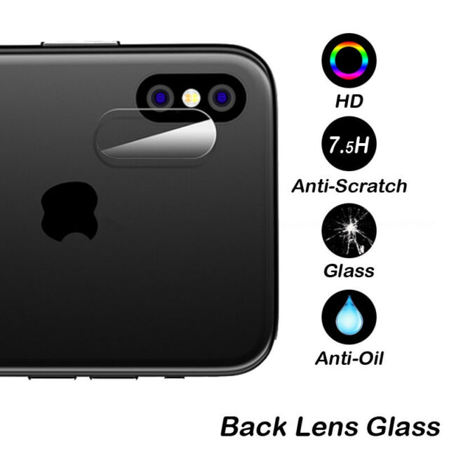 iPhone X High Quality Tempered Glass Screen Protector Cover for Rear Camera Lens