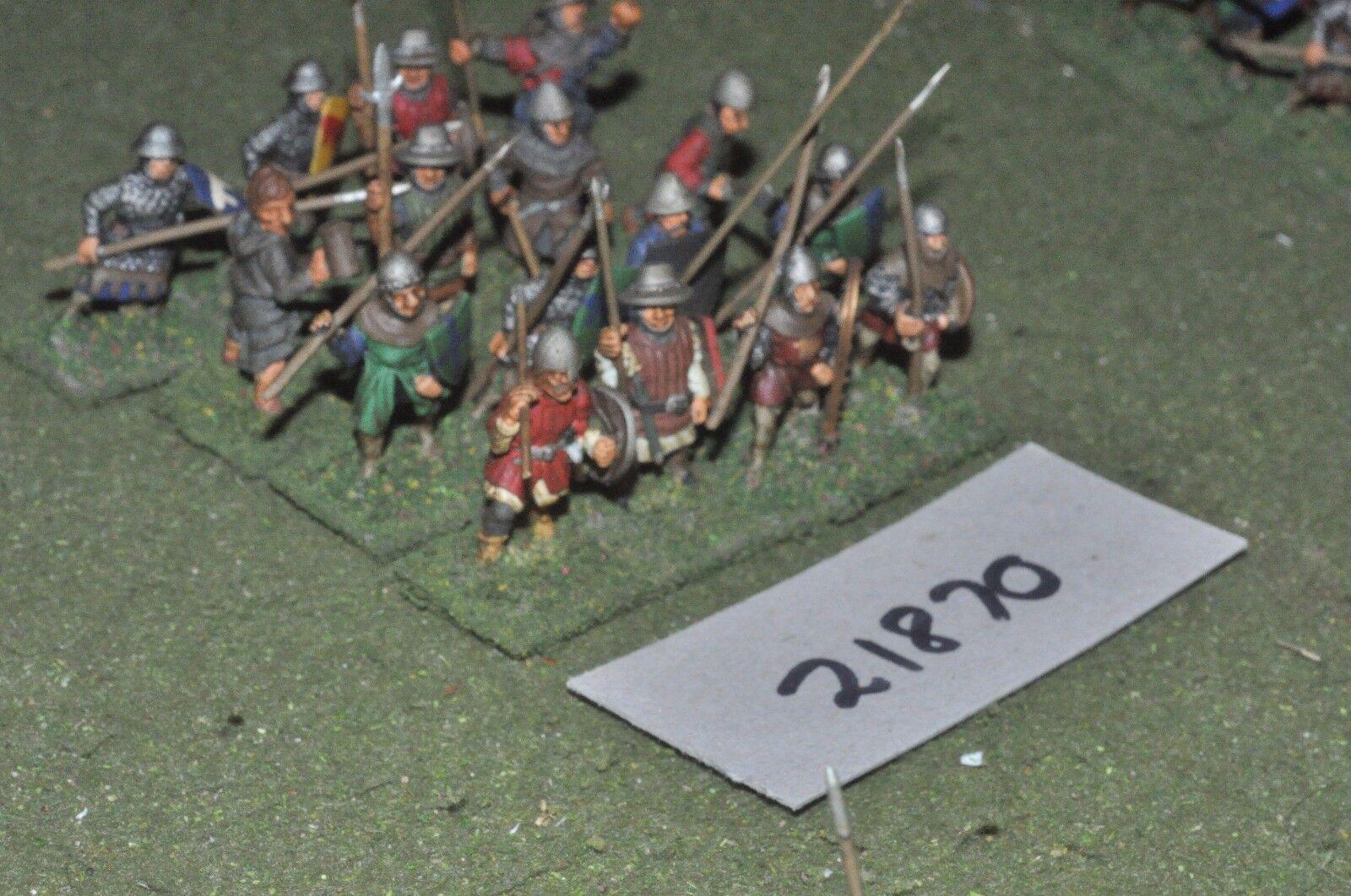25mm mittelalterlichen   englisch - speerträger 16 feigen infanterie - inf (21870)