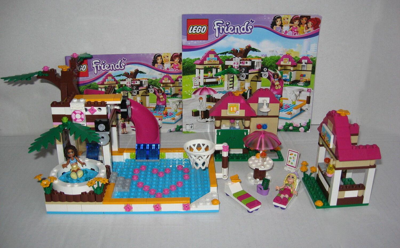 LEGO FRIENDS   Großes Schwimmbad  41008  FRIENDS komplett mit Bauanleitung c9b5aa
