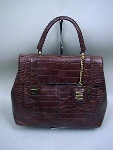 Mccarthy Handbag Faux Brown Emmett Croc Equation por wZHqUH