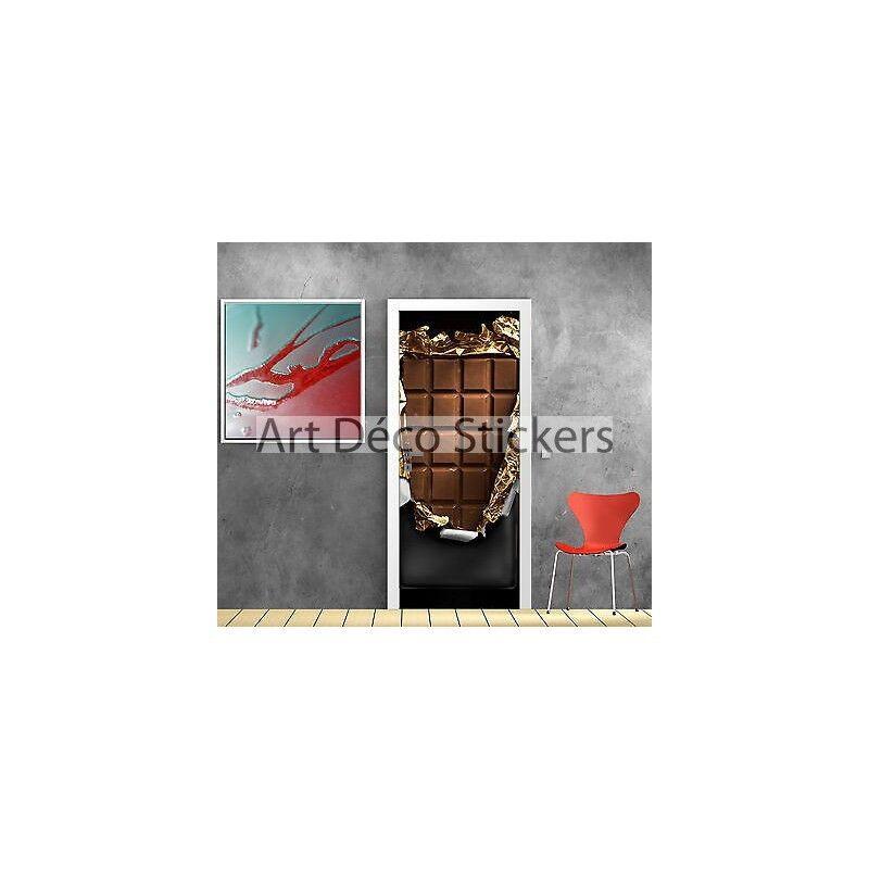 Pegatinas para la puerta del mal trampantojo decoración Chocolate ref 788