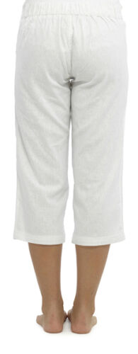 OCTAVE® Ladies Linen Cropped 3//4 Three Quarter Length Trousers /& Liner Socks