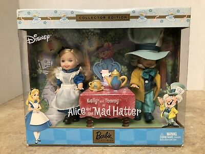 """NIB 2000 Kelly /& Tommy as /""""Alice and the Mad Hatter/"""" DisneyBarbie Collectibles"""