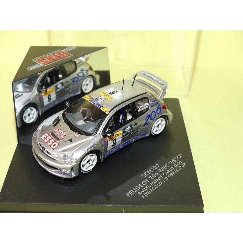 PEUGEOT 206 WRC N°9 RALLYE MONTE CARLO 2000 DELECOUR VITESSE SKM107 1 43 Abd