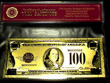 99.9% 24K GOLD 1928 $100 GOLD CERTIFICATE BILL US BANKNOTE IN PVC OUT OF STOCK!!