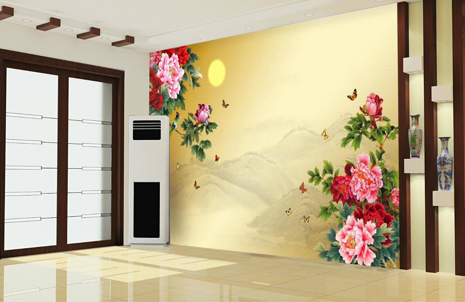 3D Butterfly Flowers Plant 739 Wall Paper Wall Print Decal Wall AJ WALLPAPER CA