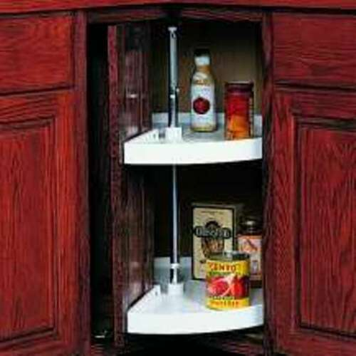 KV LAZY SUSAN  24 INCH PIE CUT DOOR MOUNT PPN24S-W