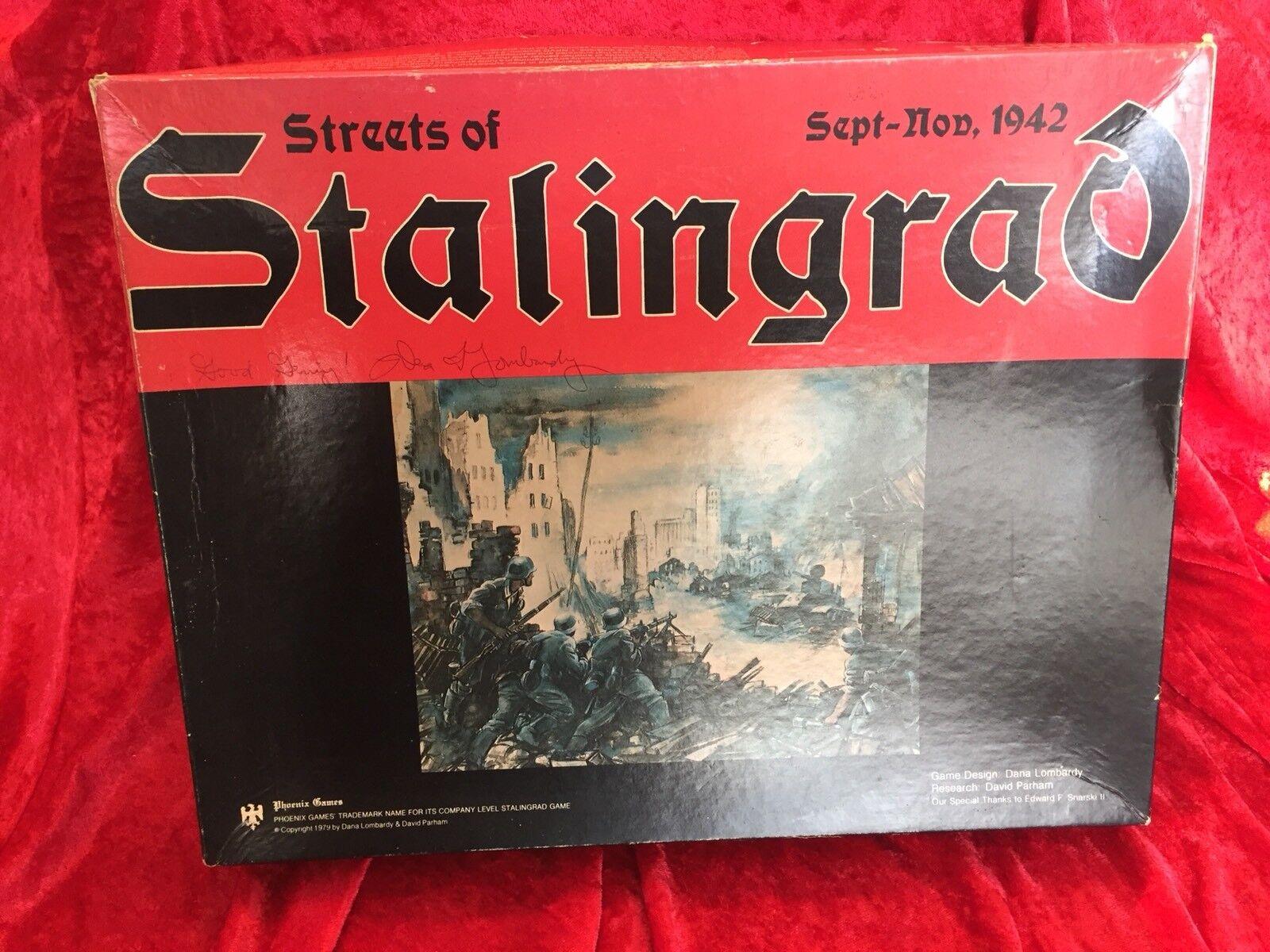 Raro 1st Edición-Firmado Por Dana Lombardía  calles de de de Stalingrado - 1979 Vintage  genuina alta calidad