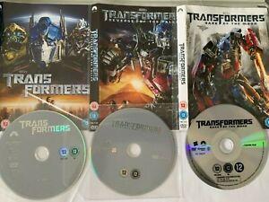 TRANSFORMERS TRILOGY 1,2,3 Michael Bay*Shia LeBouf*Megan Fox Sci-Fi