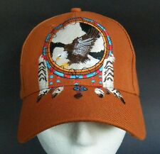 EAGLE WILD BIRD HAT BASEBALL CAP DREAM CATCHER FEATHERS NATIVE PRIDE CHAPEAU