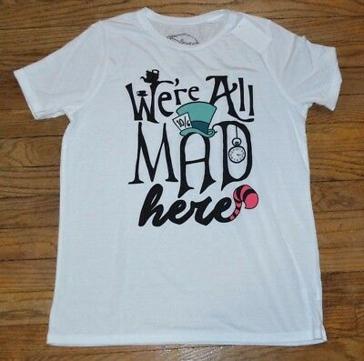 We/'re All Mad Here Tee Shirt Alice/'s Adventures in Wonderland Junior Tee TShirt