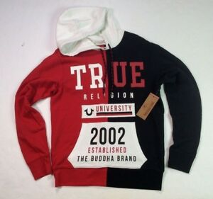 True-Religion-Men-Vintage-Retro-Wash-Buddha-Stadium-Pullover-Sweatshirts-Hoodie