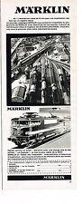 PUBLICITE  1970   MARKLIN   les trains