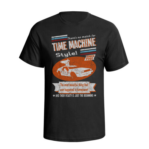DeLorean DMC 12 Time Machine Retro Style Kids Car T-Shirt