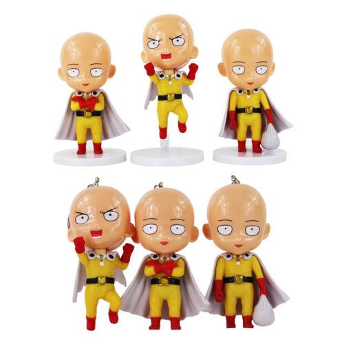 3 Pcs//Set One Punch Man Sensei Saitama PVC Collection Figure Model Toy