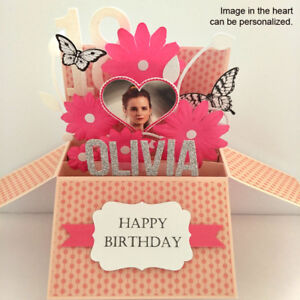 Image Is Loading Handmade Birthday Card Girlfriend Daughter Name Age Amp