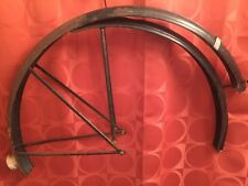 "Vintage RALEIGH SPORTS 26"" Fenders MUDGAURDS BLACK Full Patina RUDGE Robin Hood"