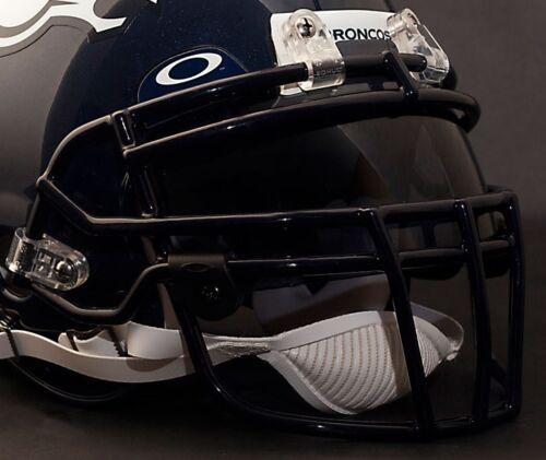 DENVER BRONCOS Schutt ROPO-DW Football Helmet Facemask//Faceguard NAVY BLUE