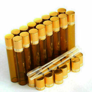 10pcs-Roll-on-Bottles-10ml-Essential-Oil-Perfume-Metal-Roller-Ball