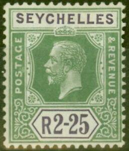 Seychelles-1921-2R25-Jaune-Vert-amp-Violette-SG122-Fin-MTD-Excellent-Etat