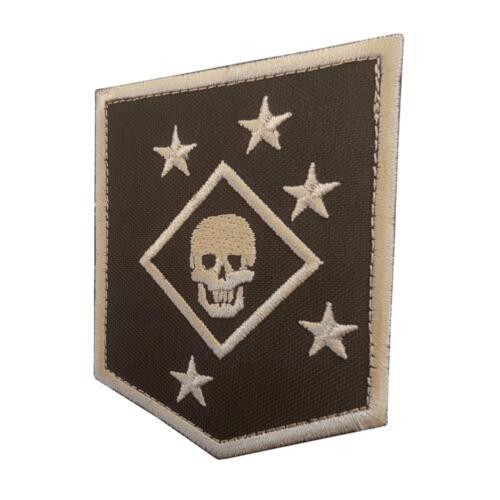 USMC raiders marines MARSOC tan arid embroidered badge tag hook/&loop patch