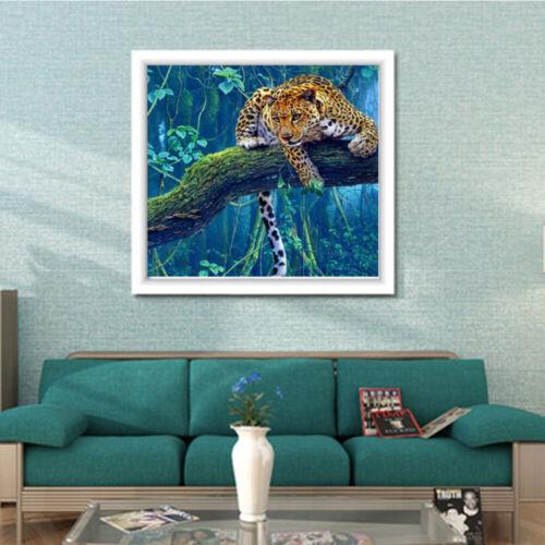 Pintura De Diamante animal Hazlo tú mismo Completo 5D Diamante Bordado Tigre Leopardo Decoración