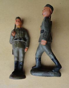 Antiquitäten & Kunst Antikspielzeug Modestil Original Lineol 2 Ddr Soldaten 50er Jahre