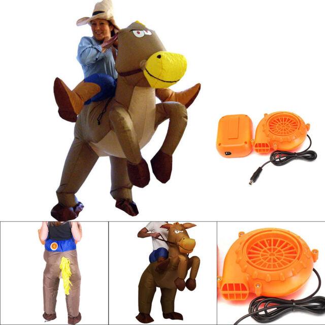 UK Seller Western Cowboy Inflatable Costume Horse Donkey FancyDress Halloween