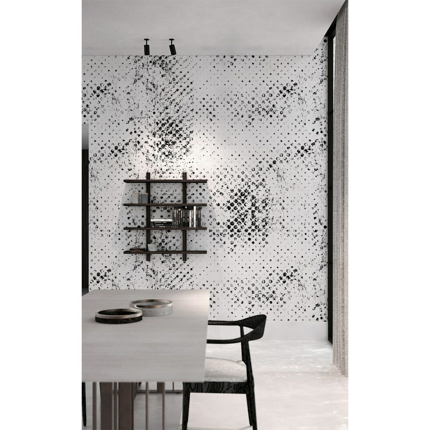 Grunge dots wall Home Mural Polka Non-Woven wallpaper Roll Minimalist Decor