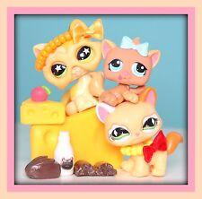 ❤️Littlest Pet Shop LPS 3 Walking CAT Kitten #626 #832 #1135 Accessories LOT❤️