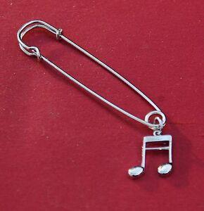 Double-Semi-Quaver-1-16th-note-Music-Silver-Pin-Badge-New