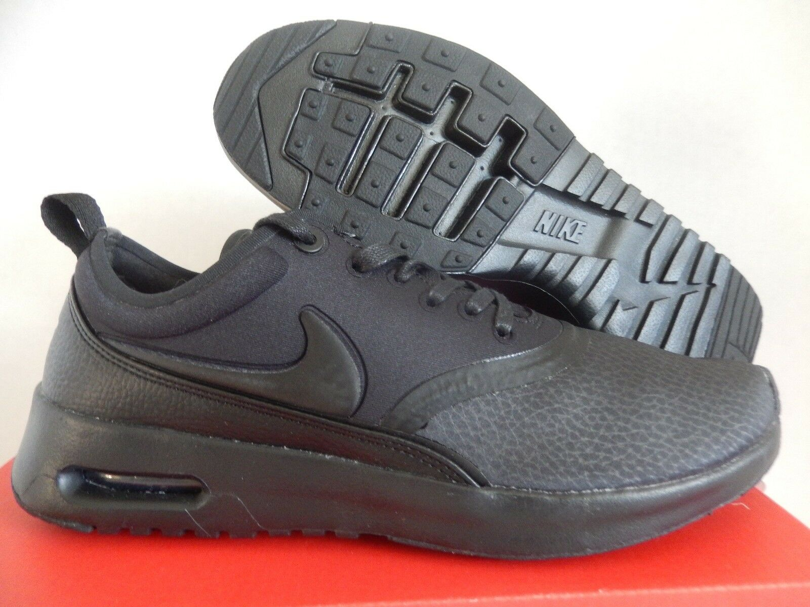 WMNS NIKE AIR MAX THEA ULTRA PREMIUM BLACK-BLACK-COOL GREY SZ 7.5