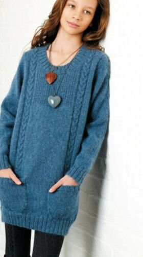 C99 KNITTING PATTERN FOR JUMPER AGE 10//11-12//13-14//16 YEARS